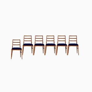 Afromosia & Velvet Dining Chairs by Richard Hornby for Fyne Ladye, 1960s, Set of 6