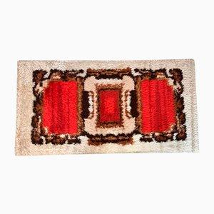 Scandinavian Abstract Graphic Wall or Floor Wool Rug, 1960s