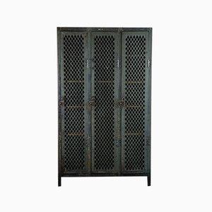 Metal Grid Cabinet with 3 Doors
