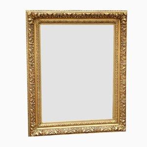 Spät vergoldeter Holz Spiegel, 19. Jh