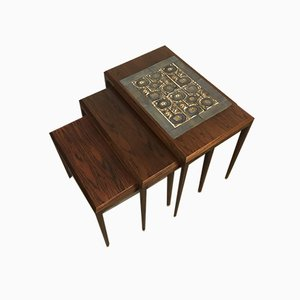Rosewood Nesting Tables by Johannes Andersen for CFC Silkeborg, 1960s, Set of 3