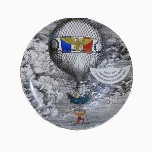 Assiette en Céramique par Piero Fornasetti pour Atelier Fornasetti, 1955