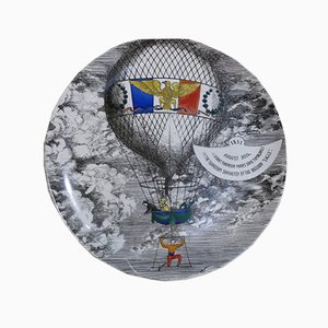 Keramik Teller von Piero Fornasetti für Atelier Fornasetti, 1955