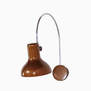 Braune Vintage Metall Wandlampe, 1970er