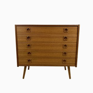 Vintage Scandinavian Teak Chest with 5 Drawers, 1960s