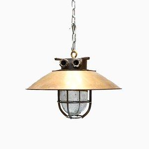 Industrielle Skandinavische Vintage Messing Lampe, 1960er