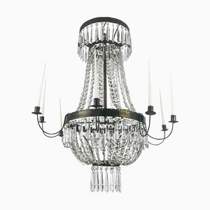 Brass and Crystal Empire Style Balloon Lamp