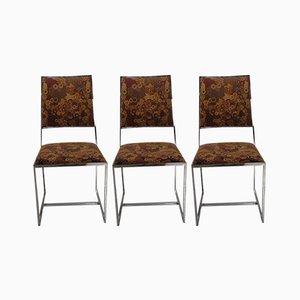 Chrom Stühle, 1970er, 6er Set