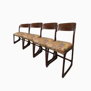 Baumann Sled Chairs, Set of 4