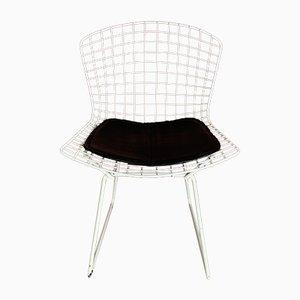 Chaise d'Appoint Blanche Vintage par Harry Bertoia