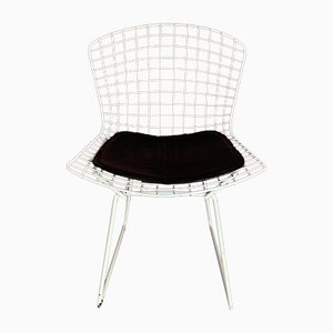 Vintage White Side Chair by Harry Bertoia