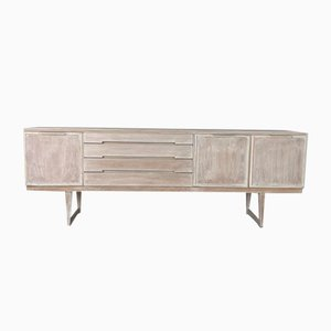 Mid-Century Lime Washed Sideboard