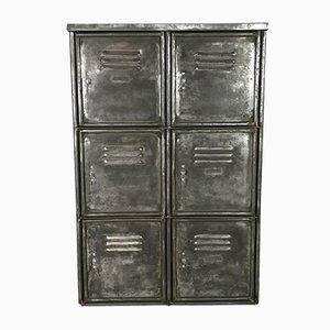 Armadio vintage a 6 scomparti in acciaio