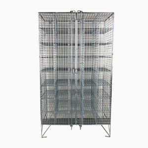 Wire Mesh Shoe Locker with Pigeon Holes & 40 Compartments