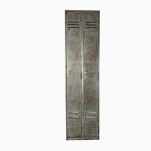 Armadietto vintage in acciaio spogliato e lucidato
