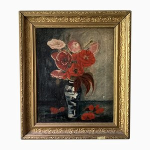 Vintage French Still Life Oil Painting
