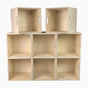 Vinyl Handmade Records Storage Crate in Birch Plywood