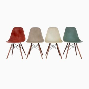 Model DSW Seafoam Green, Grey & Parchment Chairs by Charles Eames for Herman Miller, Set of 4