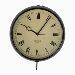 Vintage Industrial Wall Clock from Smiths