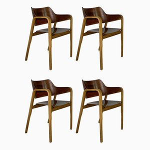 British Bent Ply Dining Chairs by Eric Lyons for Packet Furniture, Set of 4