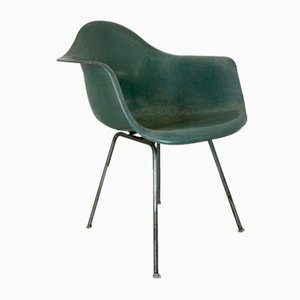 Dax Armchair in Seafoam Green with X Base by Charles Eames for Herman Miller