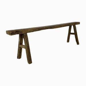 Rustic Waxed Bench