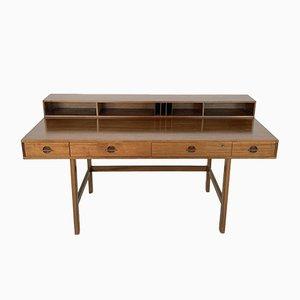 Teak Flip-Top Schreibtisch von Jens Quistgaard für Løvig, 1973