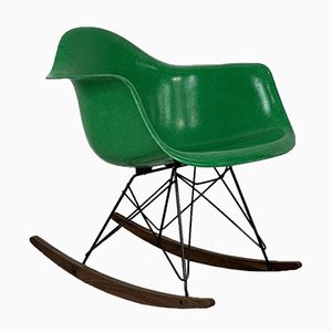 Rocking Chair in Kelly Green by Charles Eames for Herman Miller