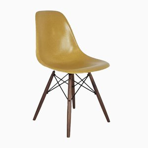 DSW Side Chair in Light Ochre by Charles Eames for Herman Miller