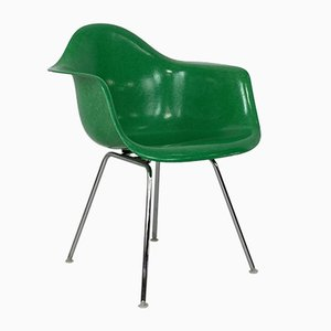 Dax Fibreglass Chair in Kelly Green by Charles Eames for Herman Miller