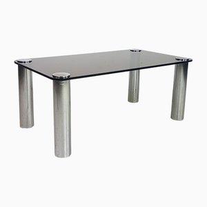 Table Basse Vintage en Verre et Chrome