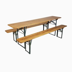 Vintage German Beer Table and Benches