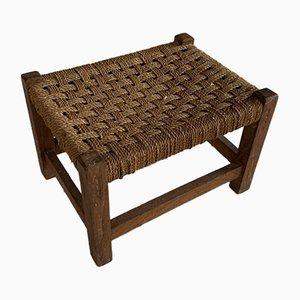 Mid-Century Cord Footstool