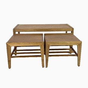 Mid-Century Scandinavian Style Teak Nesting Tables