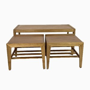 Tables Gigognes Mid-Century Style Scandinave en Teck
