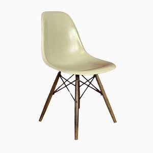 DSW Side Chair in Parchment by Charles Eames for Herman Miller
