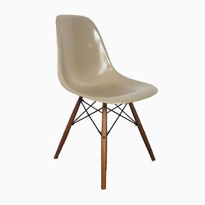 DSW Side Chair in Light Greige by by Charles Eames for Herman Miller