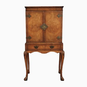 Queen Anne Style Walnut Drinks Cabinet