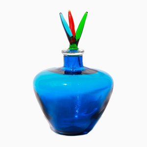 Vintage Tricolor Vase from Venini Murano, Italy, 1987