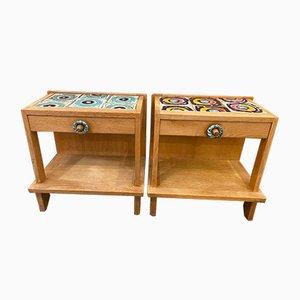Tables de Chevet par Guillerme et Chambron, 1950s, Set de 2