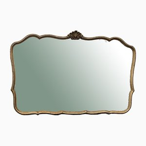 Baroque Silver Mirror in Bolus with Golden Shades, 1930s