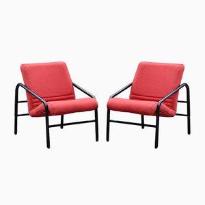 Chaises de Bureau en Tweed, 1980s, Set de 2