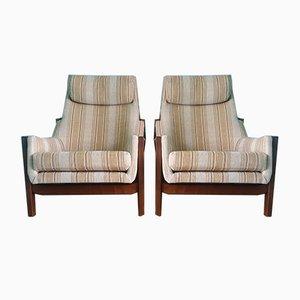 Mid-Century Swedish Lounge Chairs, 1960s, Set of 2