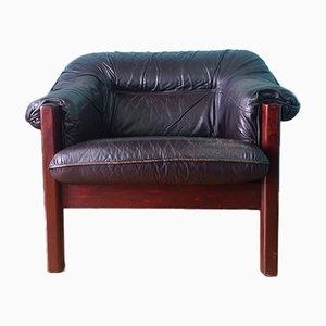Mid-Century Danish Leather Club Chair, 1960s