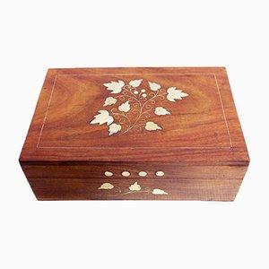 Art Nouveau Style Wooden Jewelry Box