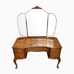 Queen Anne Burr Walnut Dressing Table