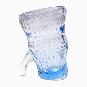 Vintage BolleBlu Vase aus Muranoglas mit Blasen, Italien, 1970er