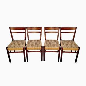 Mid-Century Esszimmerstühle im Skandinavischen Stil, Italien, 1960er, 4er Set