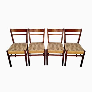 Mid-Century Scandinavian Style Dining Chairs, Italy, 1960s, Set of 4