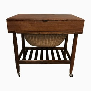 Mid-Century Danish Sewing Table by Ejvind Johansson, 1960s